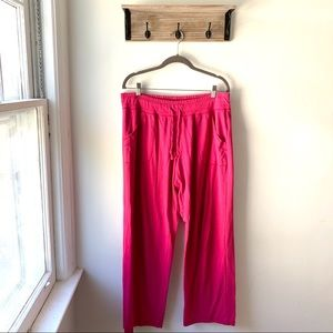Danskin Drawstring Sweat pants Hot Pink Active